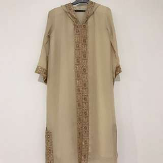 Girl's Jubah With Hooded Sequins..