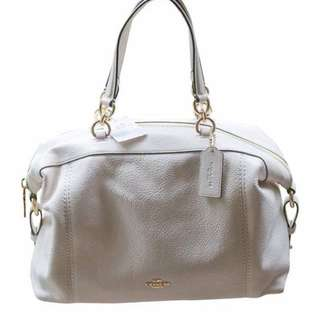 NEW Authentic COACH Pebble Leather Lenox Satchel Handbag Shoulder Bag