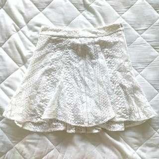 H&M White Crochet skirt