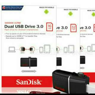 SANDISK OTG DUAL FLASH DRIVE USB