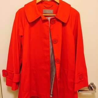 Jigsaw Tangerine Coat