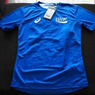Free Postage - Asics Run Tshirt (Blue)