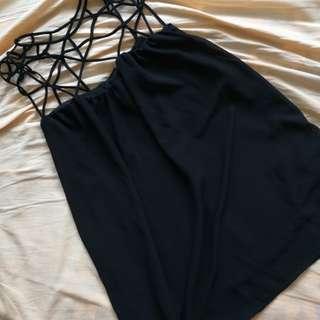 [Wadrobe Clearance] black chiffon dress