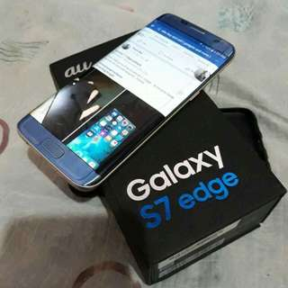 Rush! Rush! Rush! Samsung s7 edge AU japan single sim 100%original complete set with box