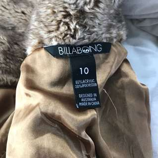 Billabong fur coat