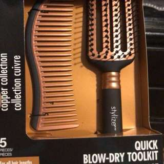 Styling comb and vent brush