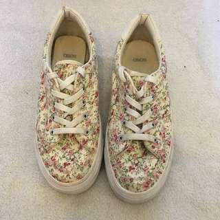 ASOS floral sneakers