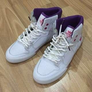 Supra Vaider Women Shoes size 39 (white,pink,purple)