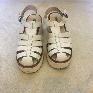Windsor Smith white sandals