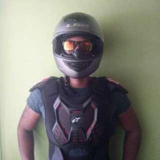 Grey LS2 helmet with excellent condition