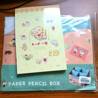 Notepad and paper pencil box