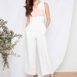 Lbrlabel Talia Duo Jumpsuit in White