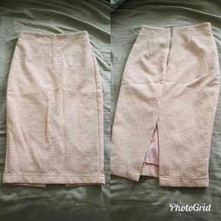 Pink High Waisted Skirt
