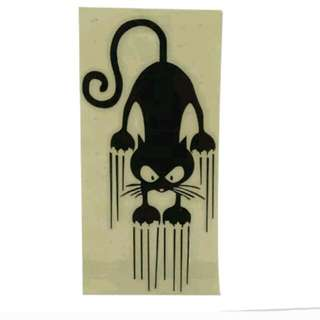 Sliding Cat Car Sticker