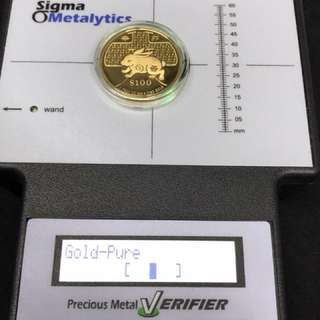 SM 2011 Gold Proof Coin $100 1-oz