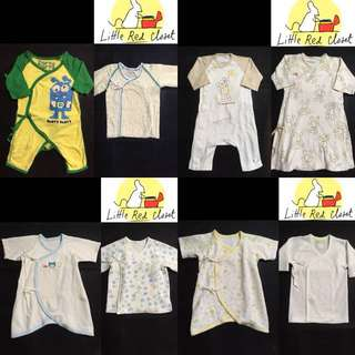 Unused tiesides and onesies for baby boy newborn to 6 months