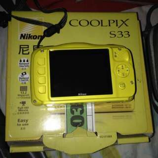 Nikon camera coolpix S33 underwater