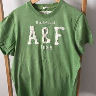 A & F Abercrombie & Fitch vintage green Tshirt