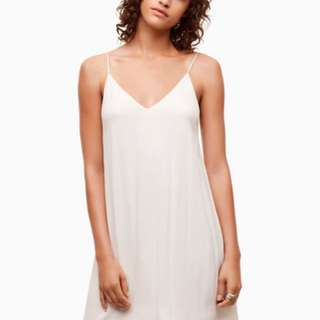 Aritzia Vivian dress white
