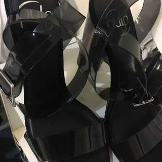 Clear Strap Heels From Hannah's