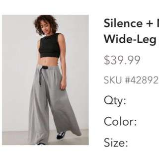 Silence & noise extreme wide-leg pant