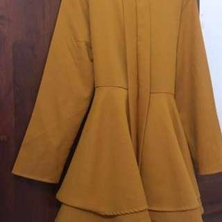 Kebaya blouse free size colour mustard