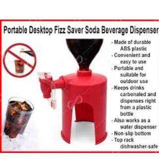 Portable Desktop Fizz Saver Soda Beverage Dispenser Red