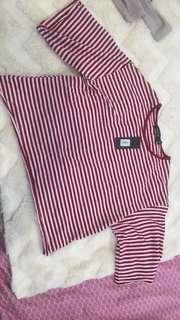 Glassons striped crop