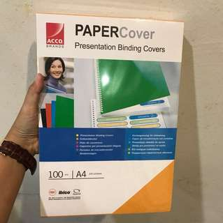 A4 ACCO Brands Presentation Binding Covers (Yellow/100pcs/BRAND NEW)