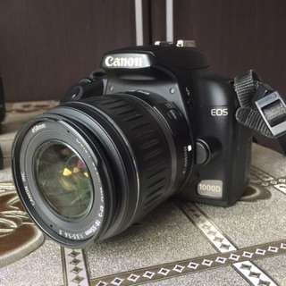 Canon 1000D with basic lens