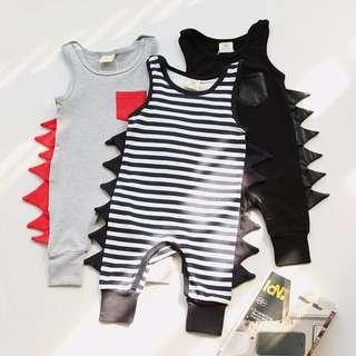 🌟INSTOCK🌟 Punk Style Assorted Sleeveless PJ Romper for Baby Toddler Boy/Girl Children Kids Clothing