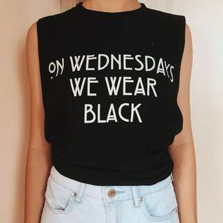 Black Muscle Tee (On Wednesdays We Wear Black)
