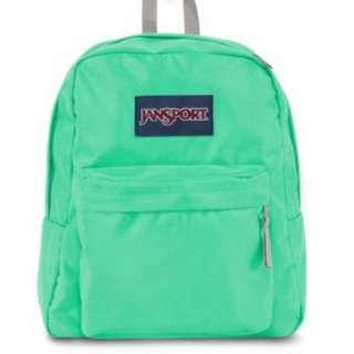 Jansport neonish green with grey straps