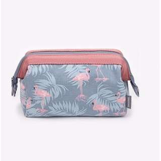 Korean Style Cosmetic Pouch (Flamingo)