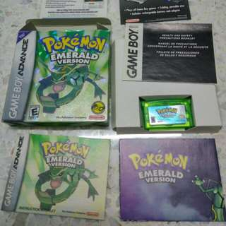 Pre-loved Pokemon Emerald english US version game for Nintendo Game Boy Advance