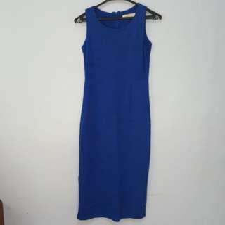 Lace-Back Detail Midi Dress