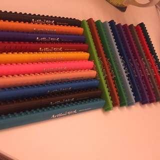Artline Stix brush marker pens set of 20