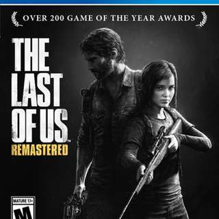 The last of us remastered ps4 game