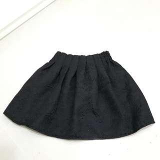 High Waist Floral Embroidered Skirt