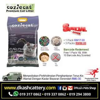 Coziecat Bentonite Premium Cat Litter Lavender 10L