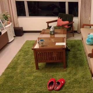 HAMPEN 長毛地毯, 亮綠色  IKEA