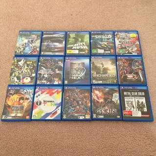 PS Vita games (jap and eng vers.)
