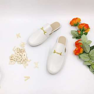 white gucci mules inspired