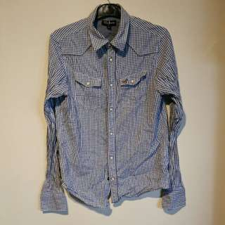 Navy flano shirt