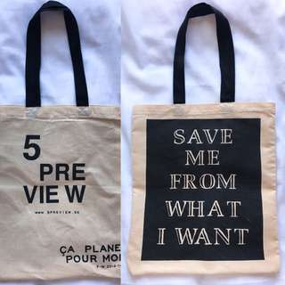 🆕5Preview 5 Preview Tote Bag 環保布袋