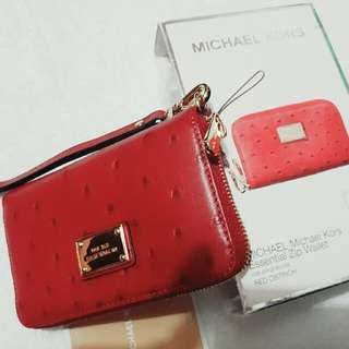 authentic michael kors small wallet/iphone