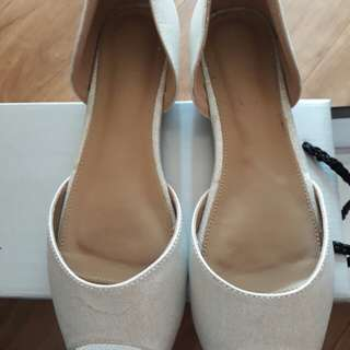 Pre loved silver wedding shoes