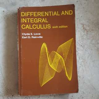 Differential and Integral Calculus
