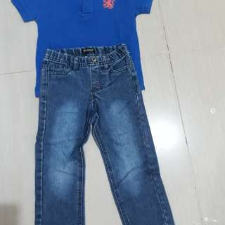 Guess pant and cotton on polo shirt.