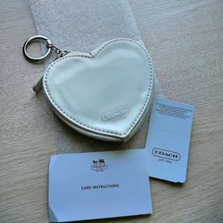 Coach heart shape key chain⁄coins bag